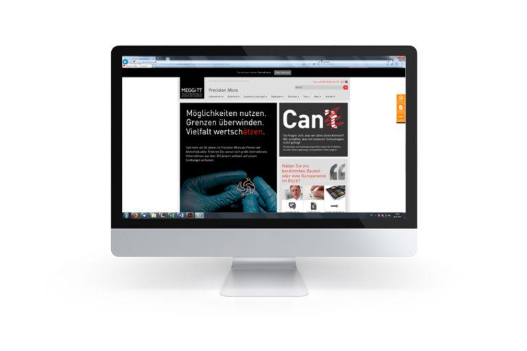 Precision Micro Website-Claim in englischer Sprache