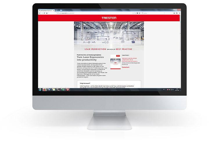 Treston Deutschland: Landing Page Lean Production