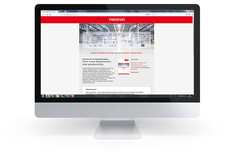 Treston Deutschland: Case Study Landing Page Lean Production / Lean Ergonomics