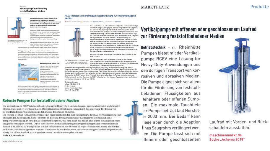 Pressemitteilung Rheinhütte Pumpen