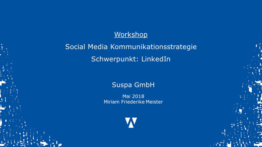 LinkedIn Workshop SUSPA