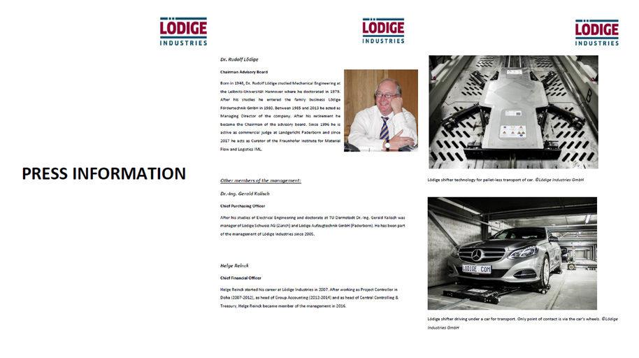 Pressemappe Lödige Industries